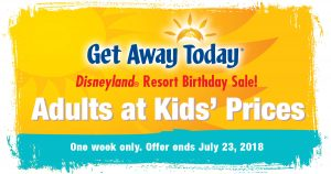 Disneyland's Birthday Sale